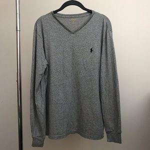Polo Ralph Lauren Long Sleeve V-Neck T Shirt Med
